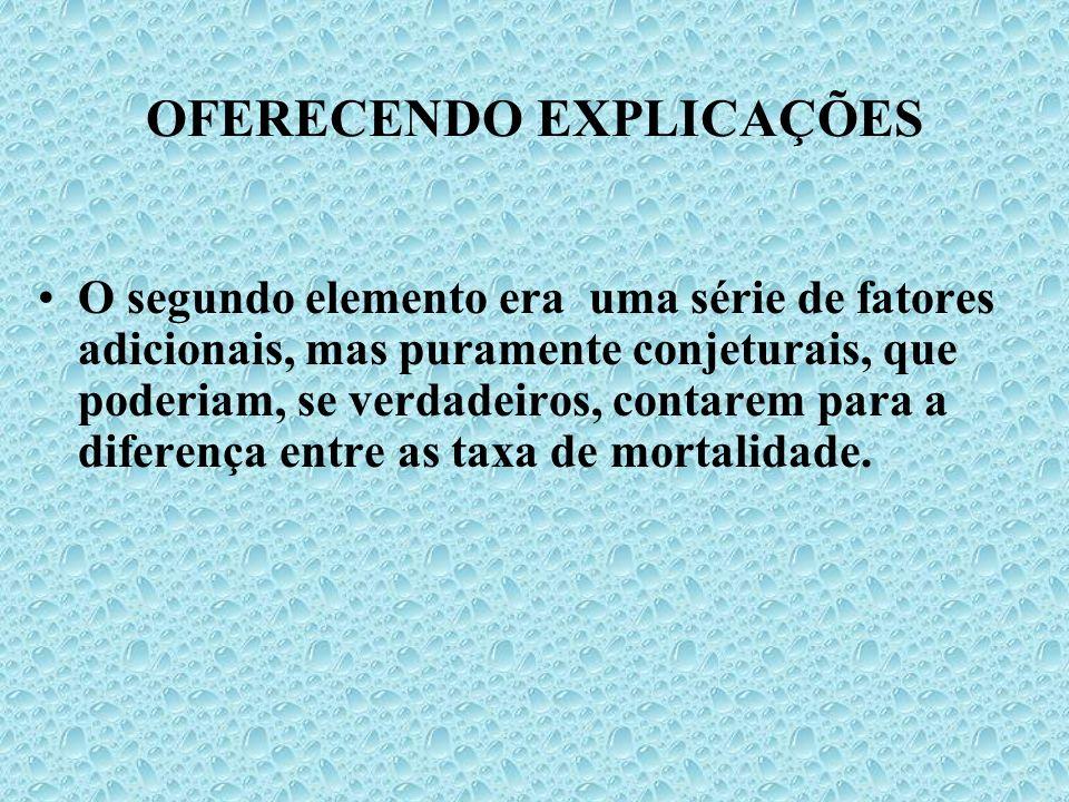 OFERECENDO EXPLICAÇÕES