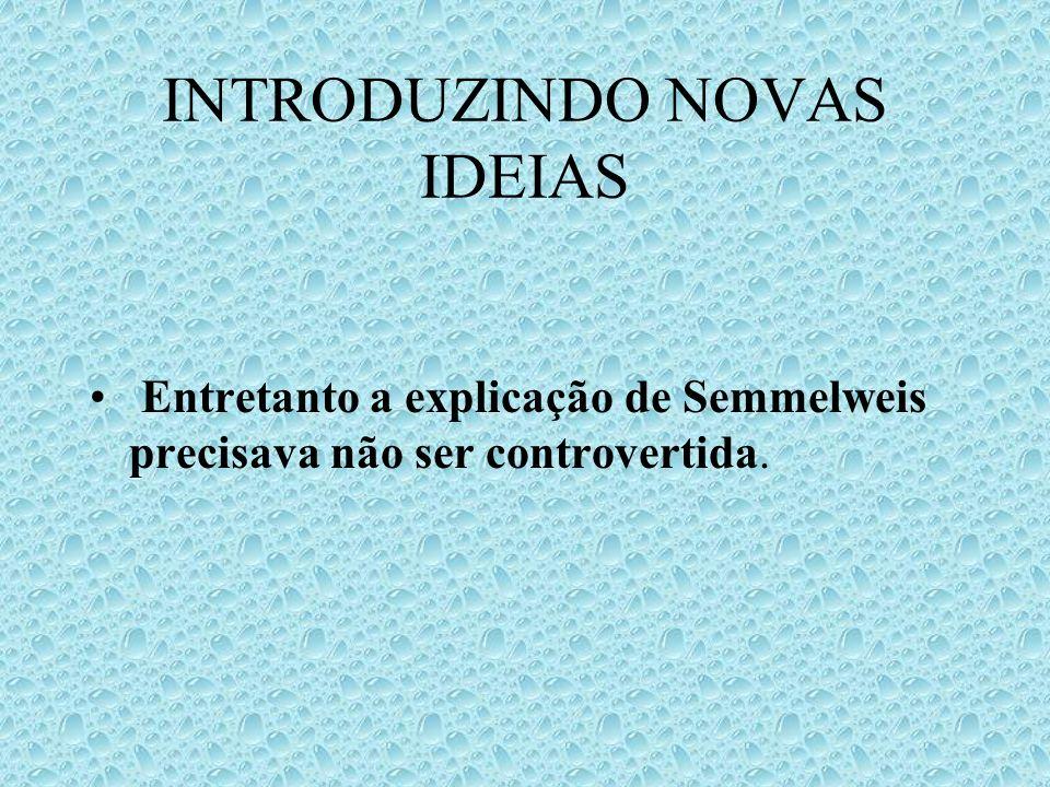 INTRODUZINDO NOVAS IDEIAS