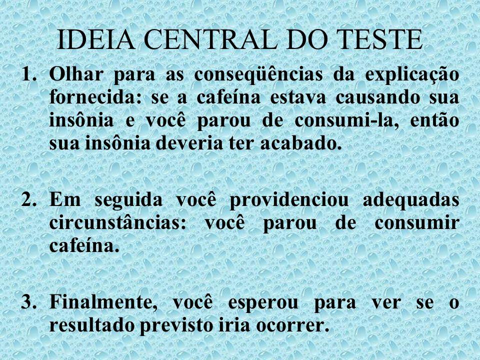 IDEIA CENTRAL DO TESTE