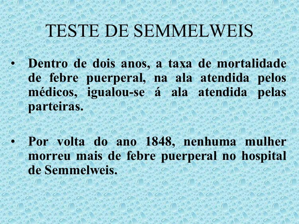 TESTE DE SEMMELWEIS
