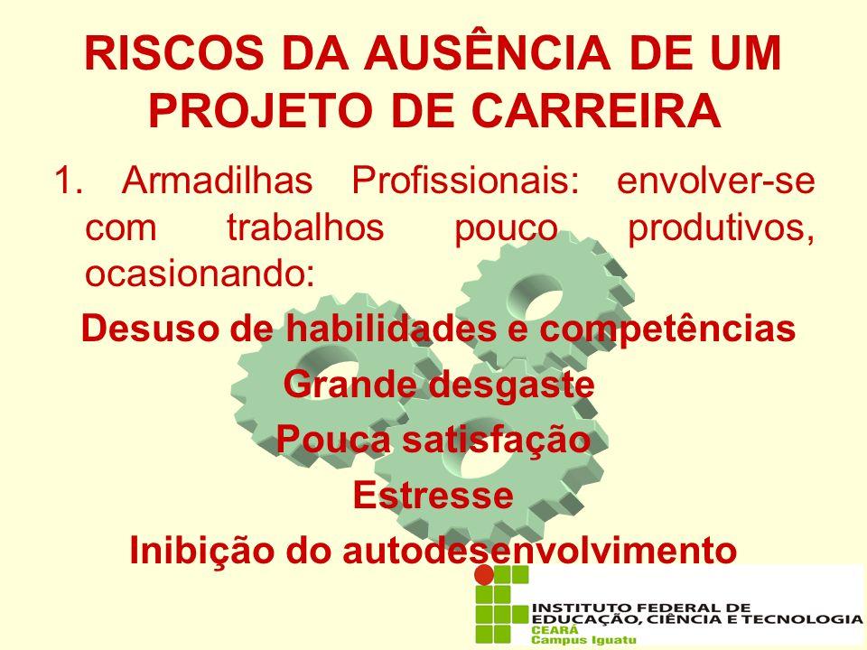 RISCOS DA AUSÊNCIA DE UM PROJETO DE CARREIRA