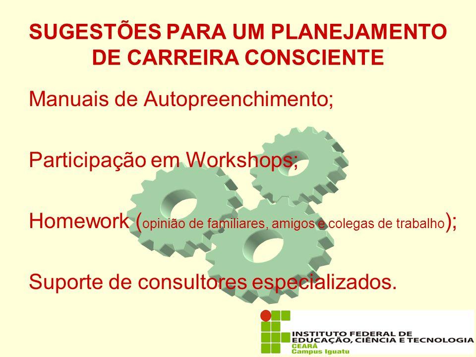 SUGESTÕES PARA UM PLANEJAMENTO DE CARREIRA CONSCIENTE