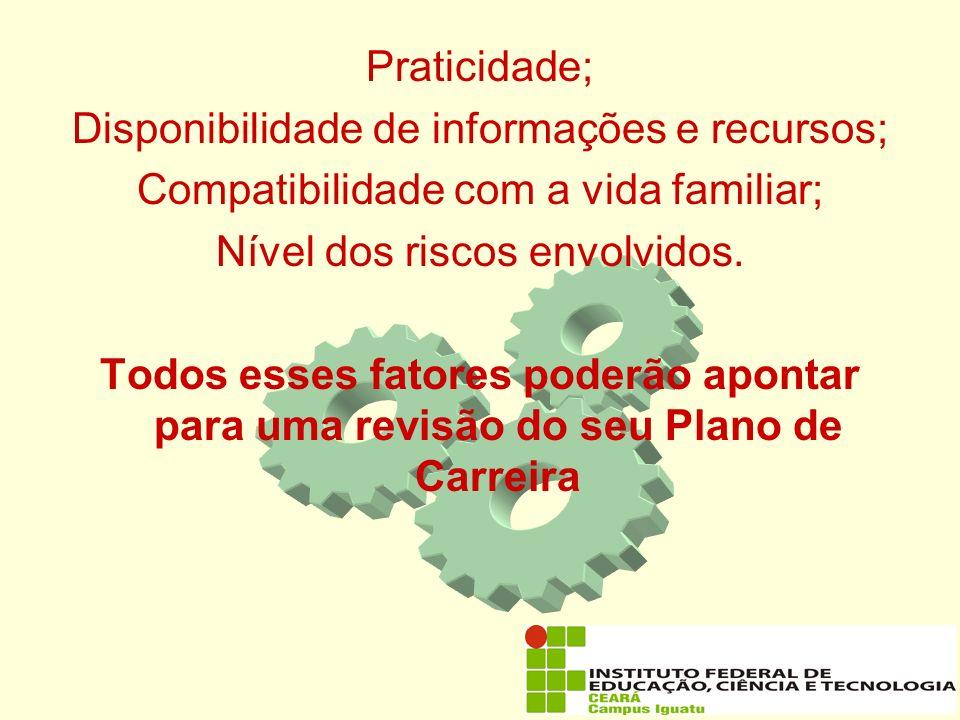 Disponibilidade de informações e recursos;