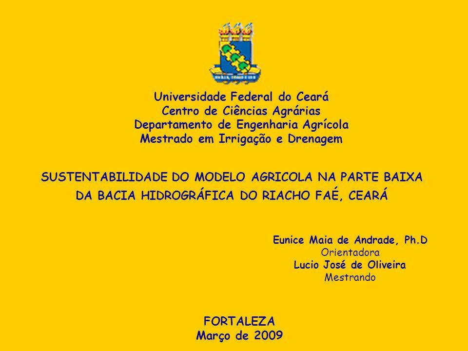 Universidade Federal do Ceará Centro de Ciências Agrárias