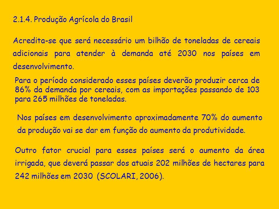 2.1.4. Produção Agrícola do Brasil