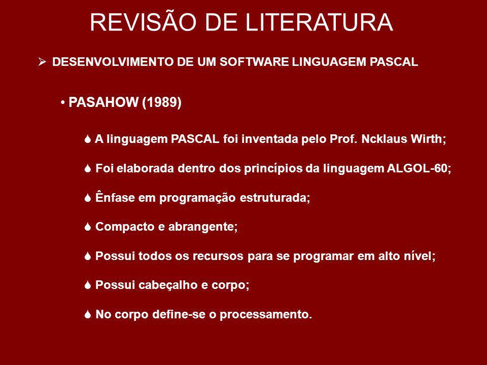 REVISÃO DE LITERATURA PASAHOW (1989)