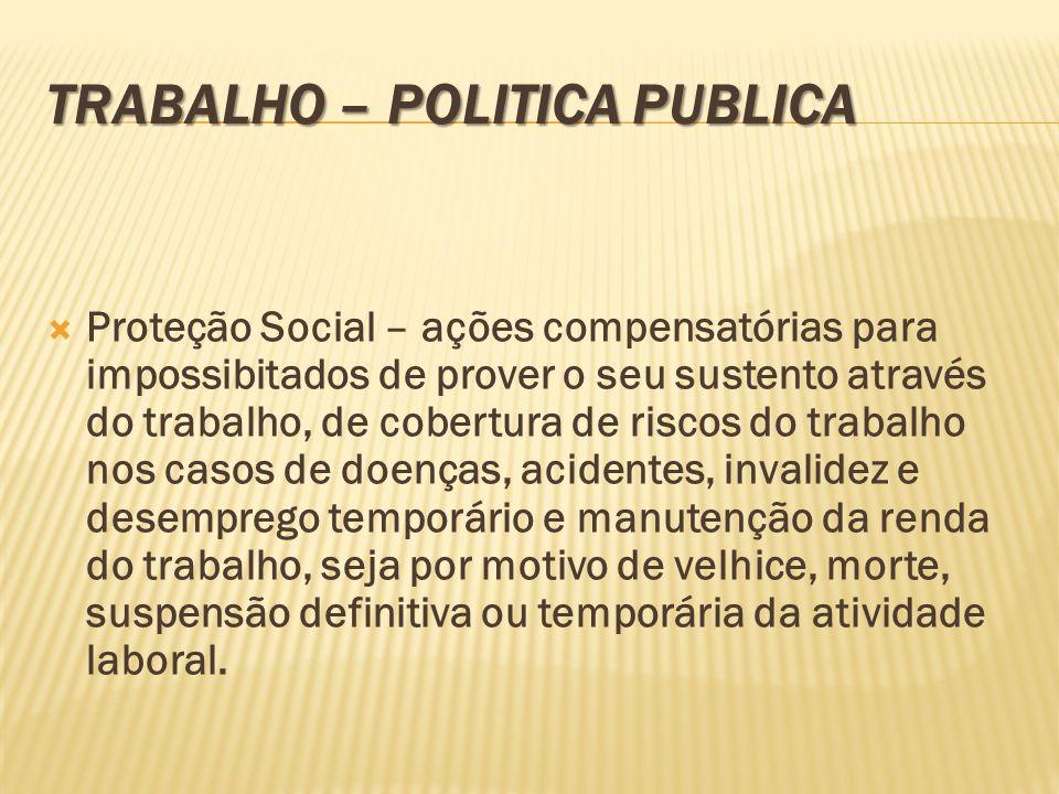 TRABALHO – POLITICA PUBLICA
