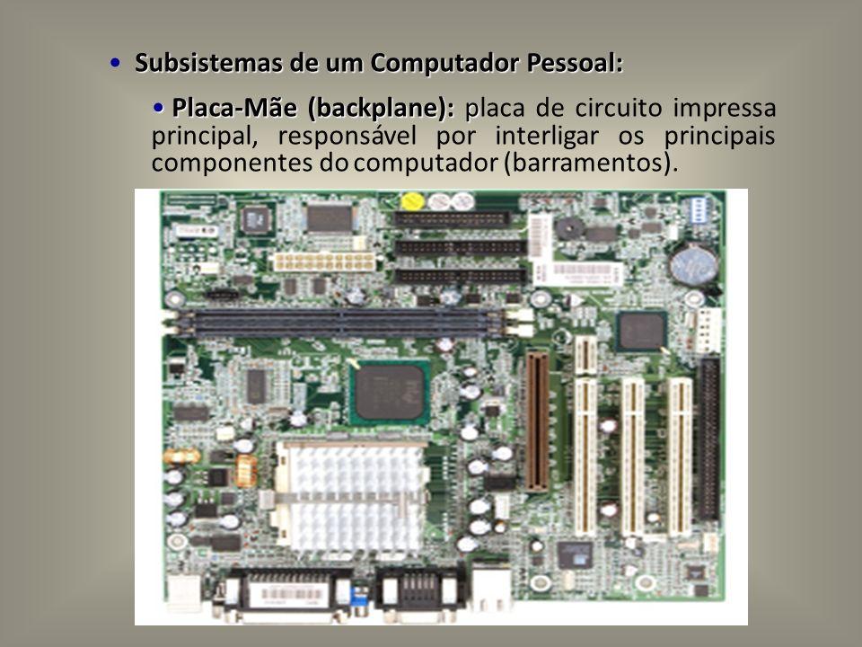 Subsistemas de um Computador Pessoal: