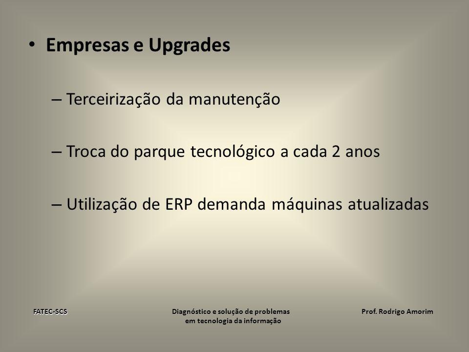Empresas e Upgrades Terceirização da manutenção