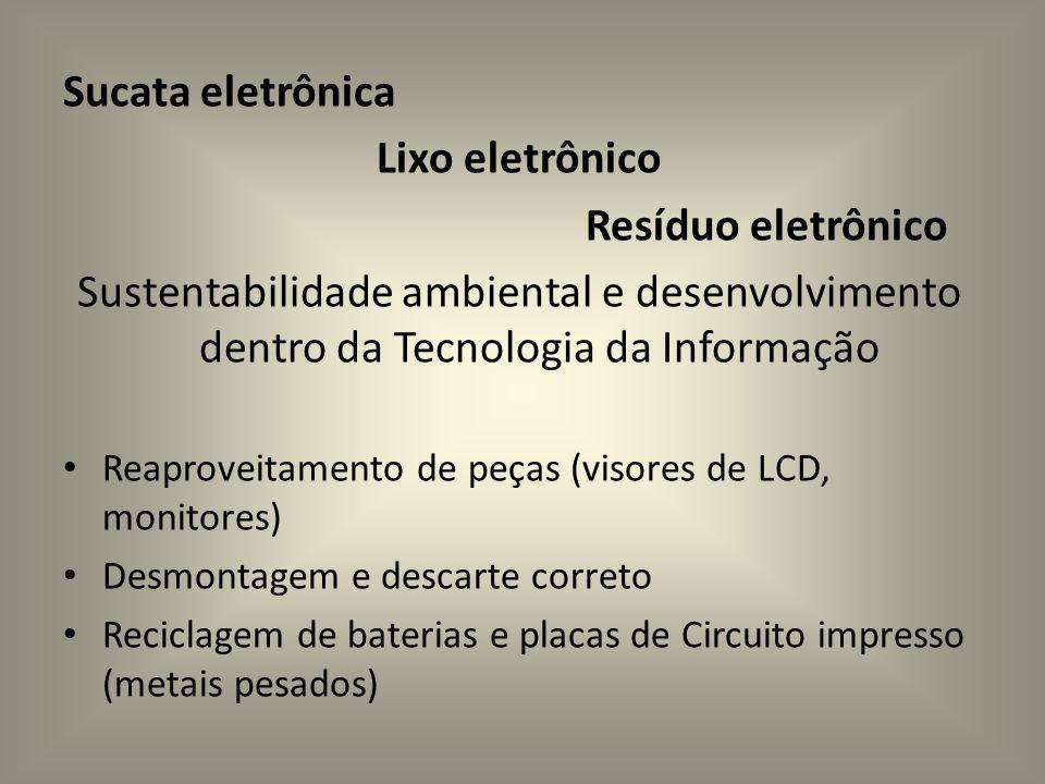 Sucata eletrônica Lixo eletrônico Resíduo eletrônico