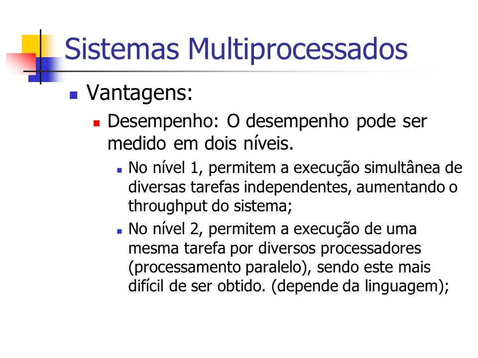 Sistemas Multiprocessados