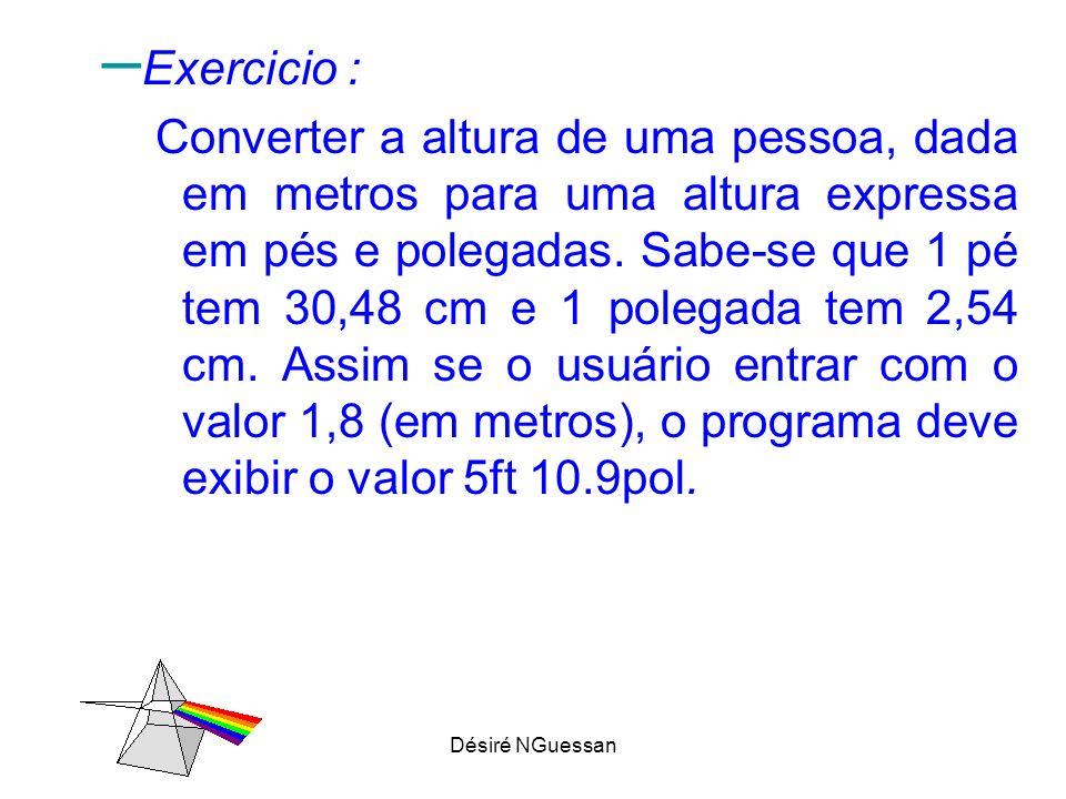 Exercicio :