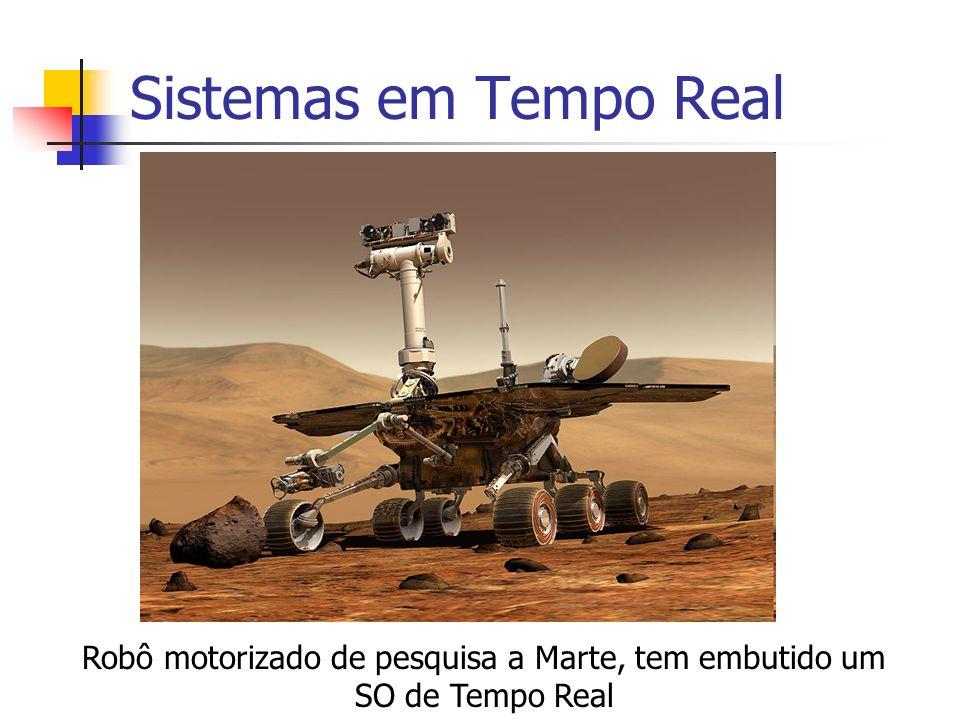 Robô motorizado de pesquisa a Marte, tem embutido um SO de Tempo Real