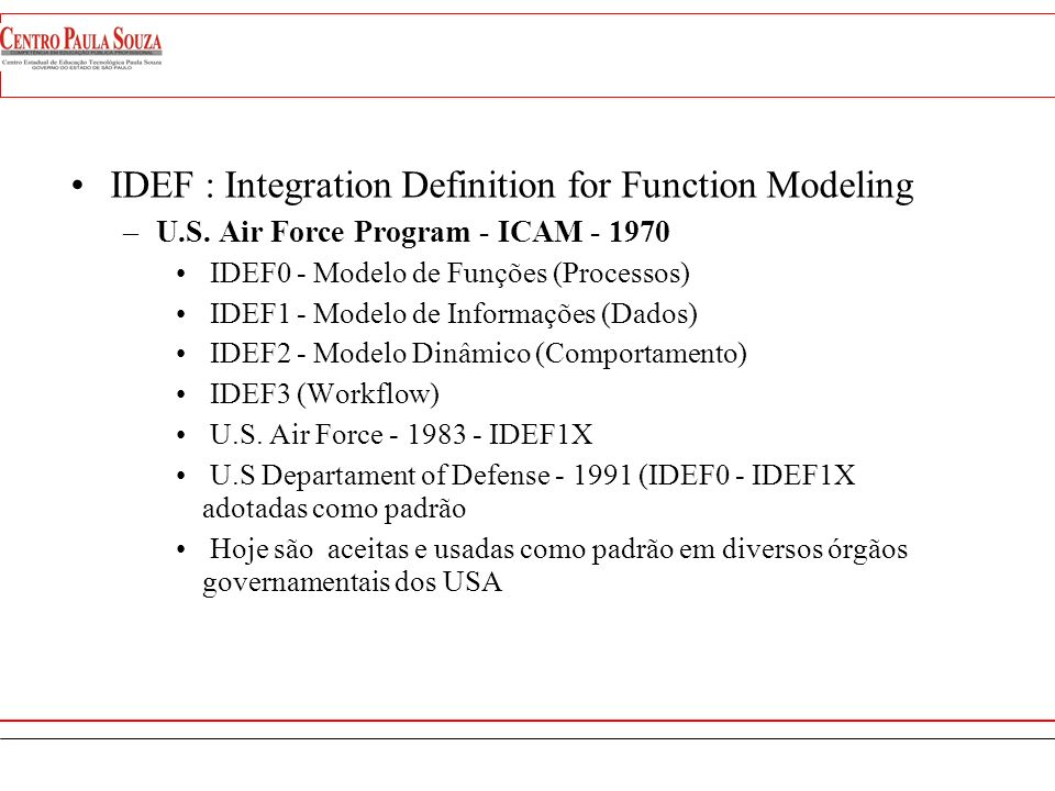 IDEF : Integration Definition for Function Modeling