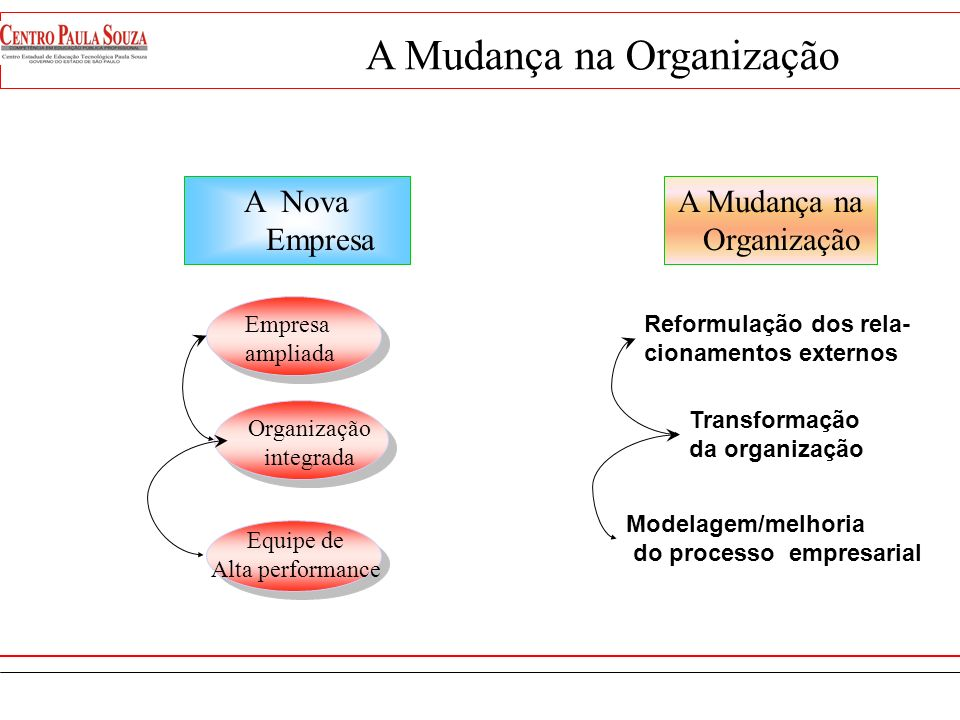 A Mudança na Organização