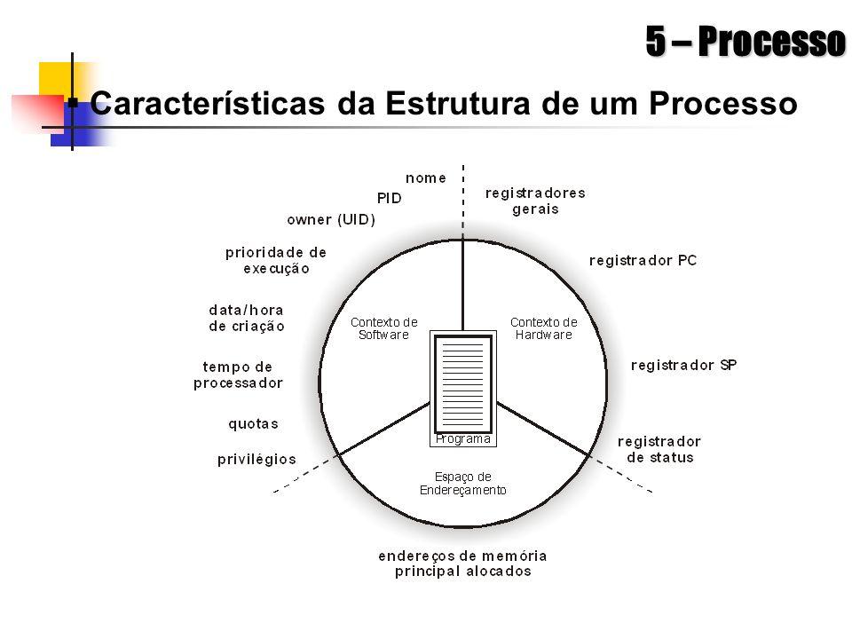 5 – Processo Características da Estrutura de um Processo