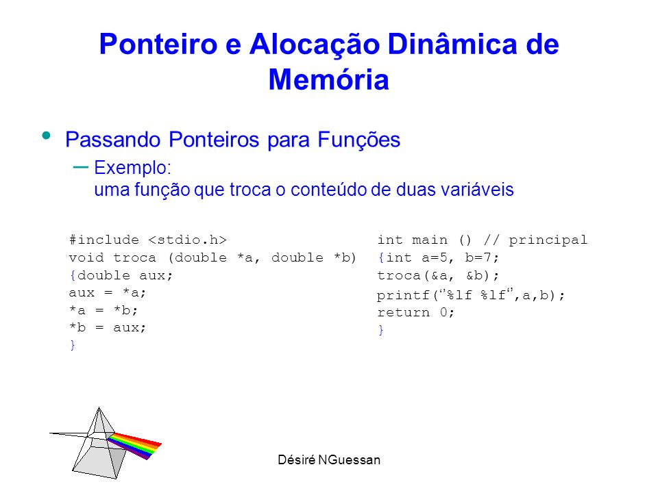 Ponteiro e Alocação Dinâmica de Memória