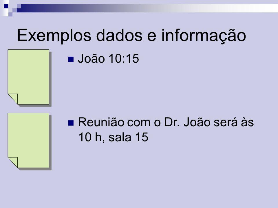 Exemplos dados e informação