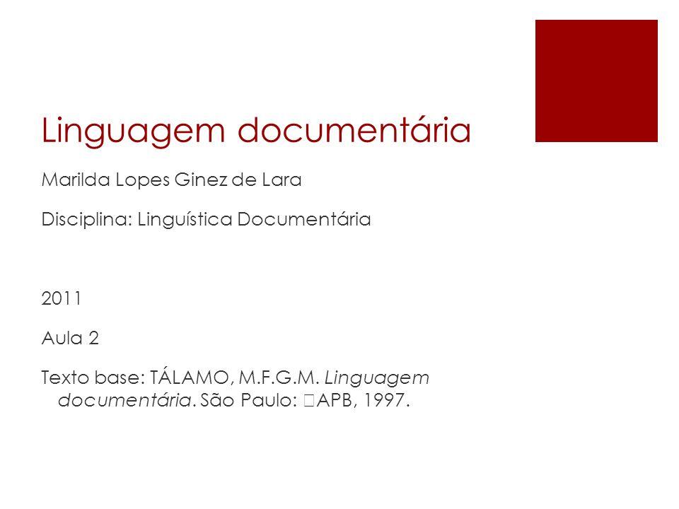 Linguagem documentária