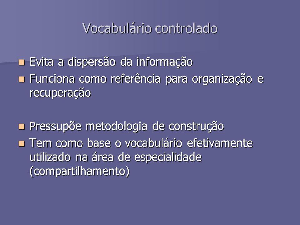 Vocabulário controlado