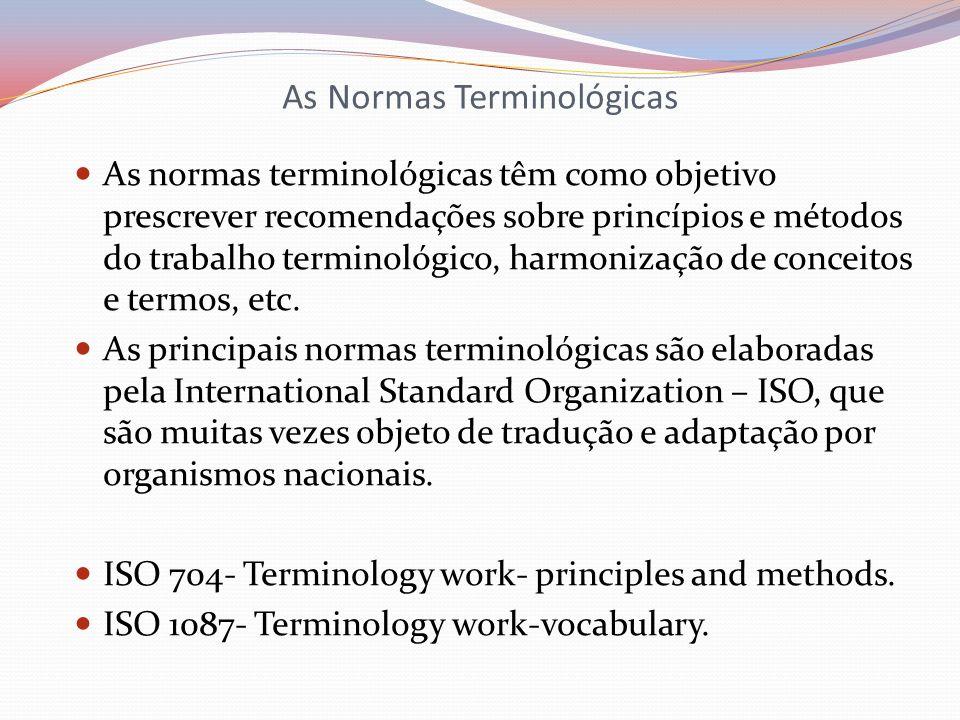 As Normas Terminológicas