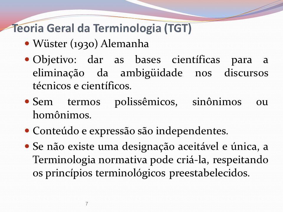 Teoria Geral da Terminologia (TGT)
