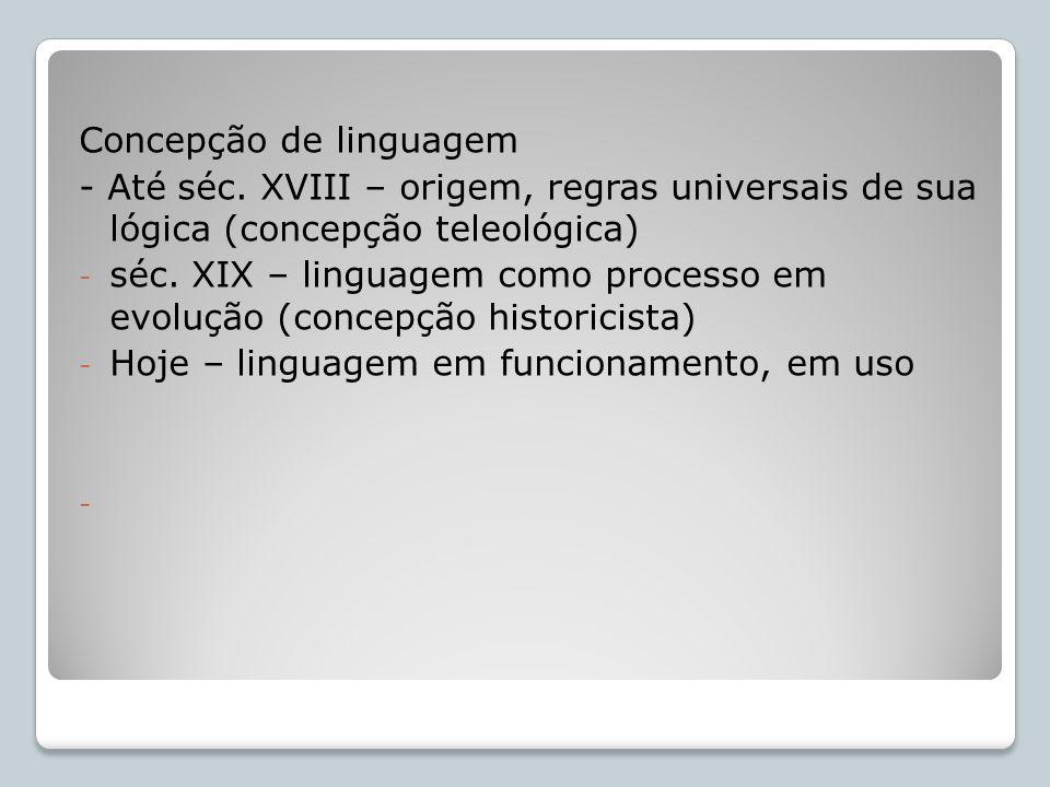 Concepção de linguagem