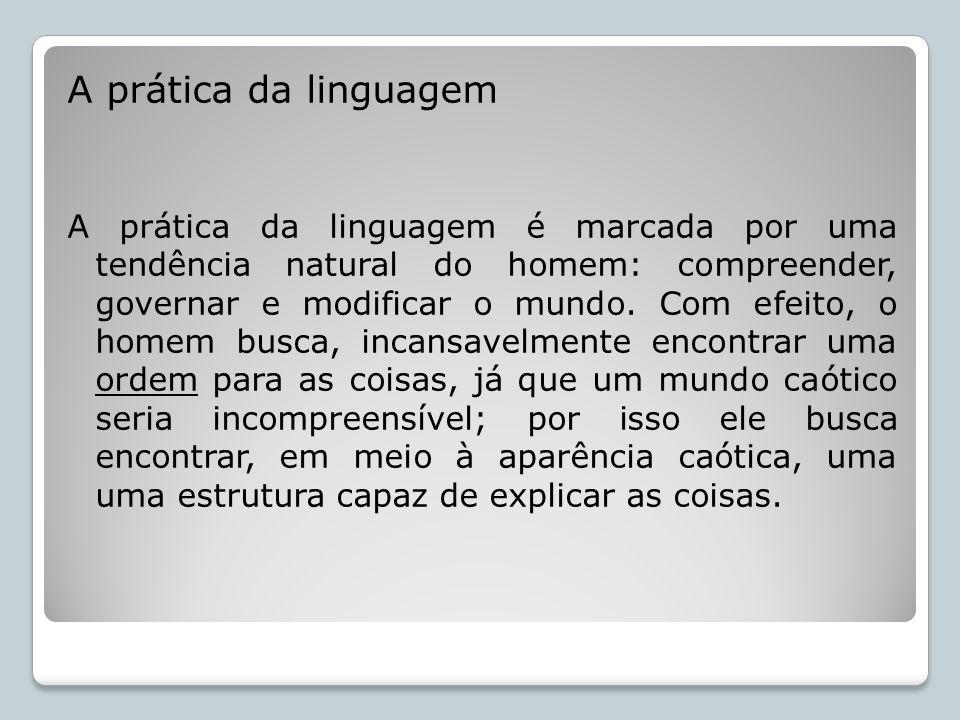 A prática da linguagem