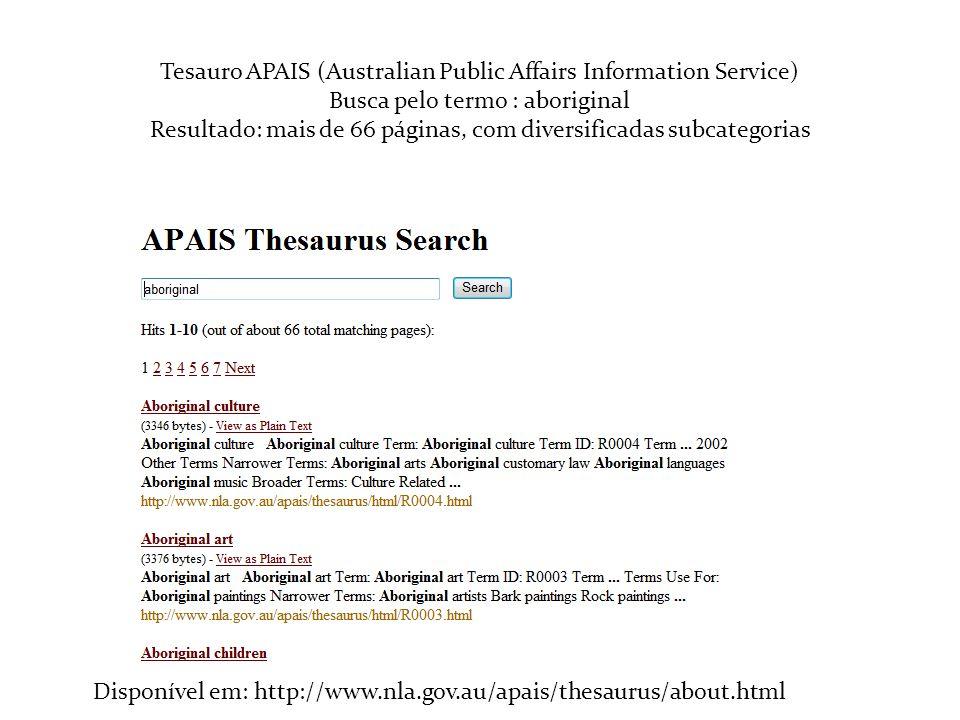 Tesauro APAIS (Australian Public Affairs Information Service)