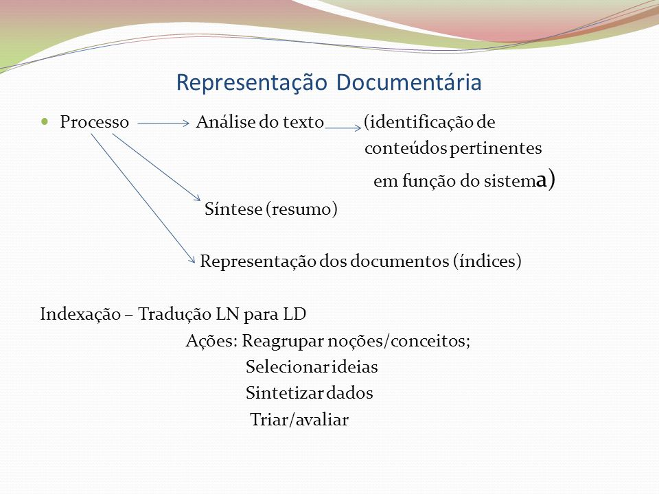 Representação Documentária