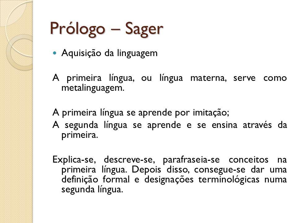 Prólogo – Sager Aquisição da linguagem