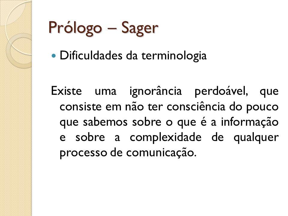 Prólogo – Sager Dificuldades da terminologia