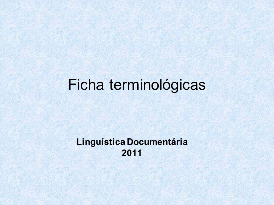 Linguística Documentária 2011