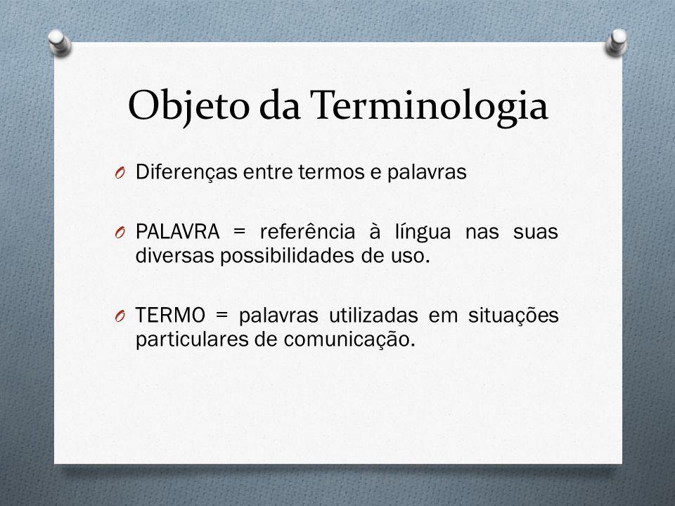 Objeto da Terminologia
