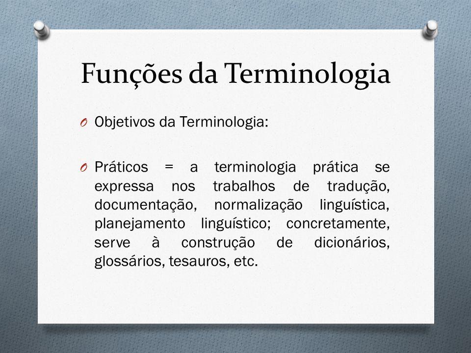 Funções da Terminologia
