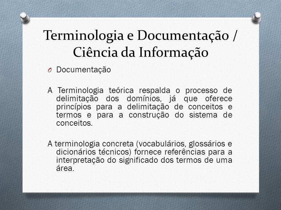Terminologia e Documentação / Ciência da Informação