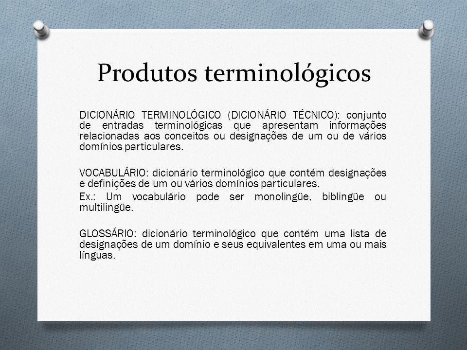 Produtos terminológicos