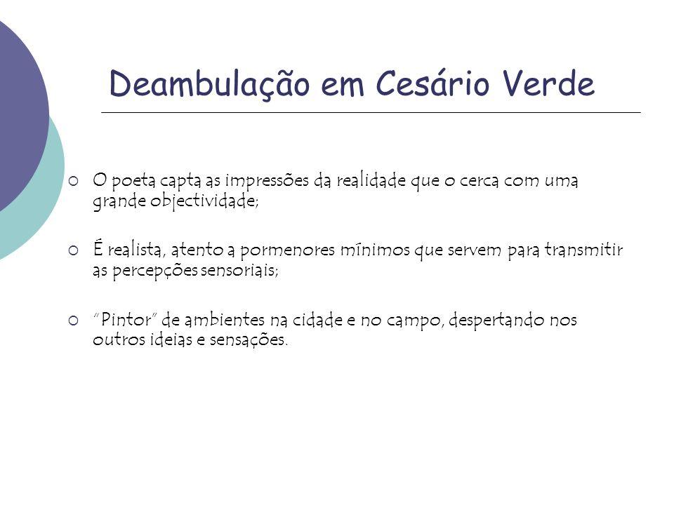 Deambulação em Cesário Verde