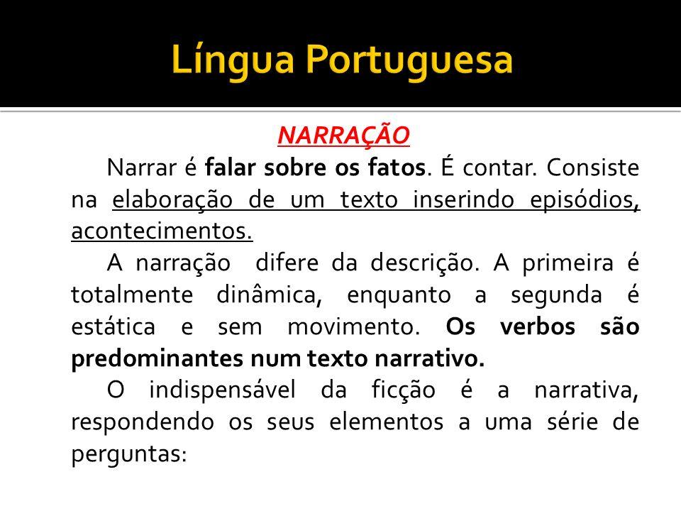 Língua Portuguesa NARRAÇÃO