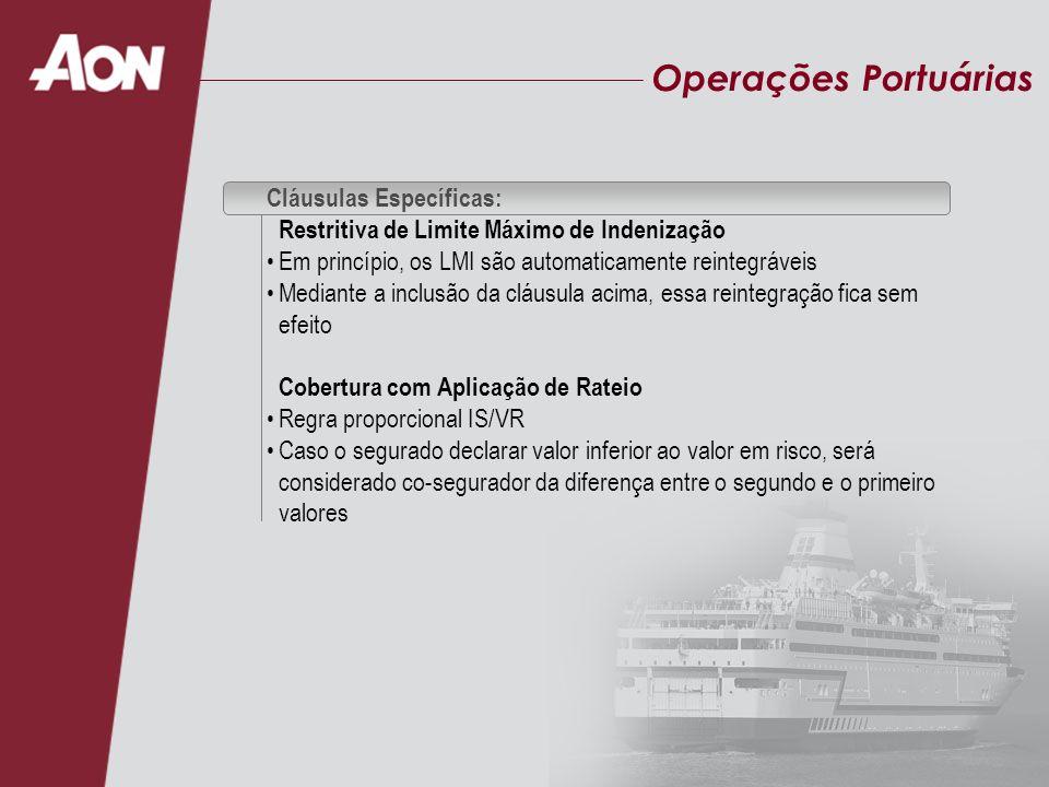 Operações Portuárias Cláusulas Específicas:
