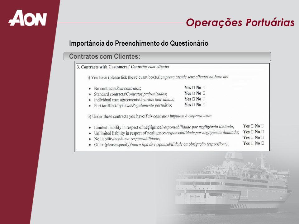 Operações Portuárias Importância do Preenchimento do Questionário