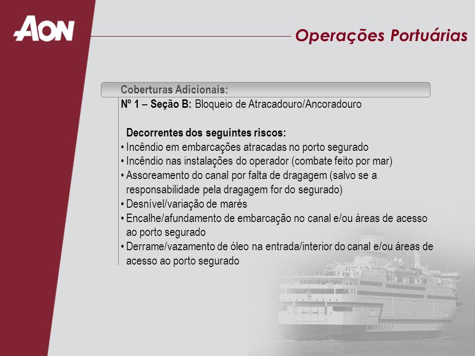 Operações Portuárias Coberturas Adicionais: