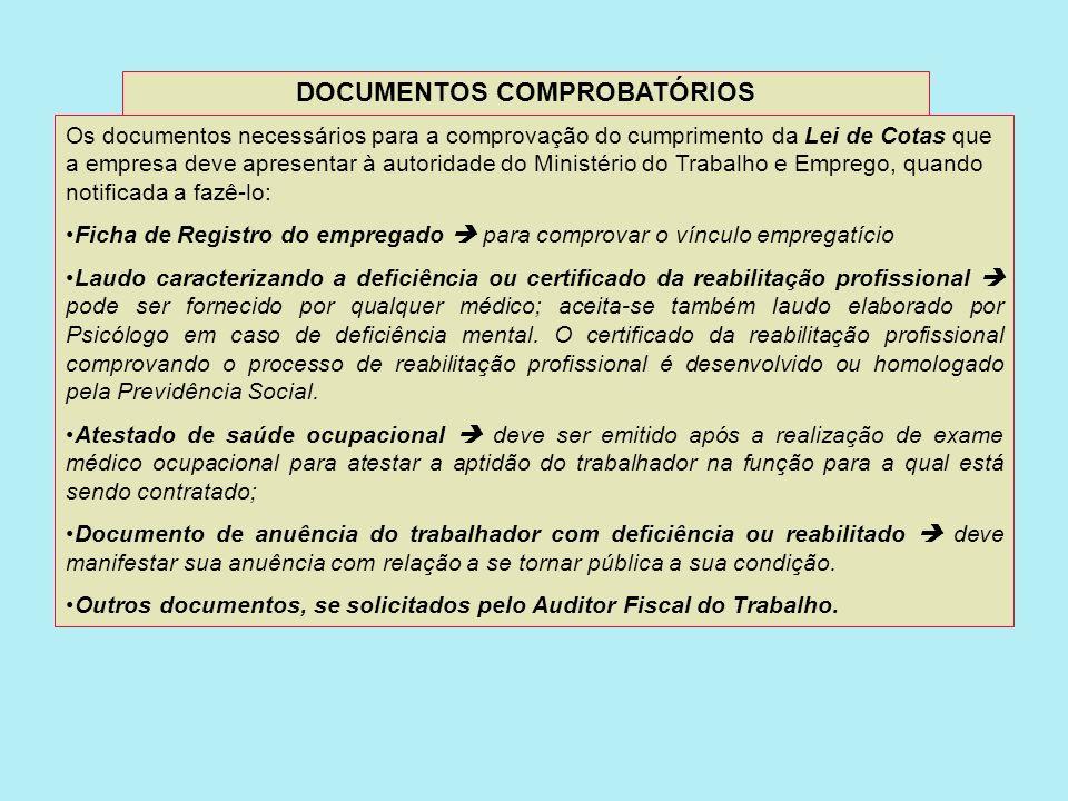 DOCUMENTOS COMPROBATÓRIOS