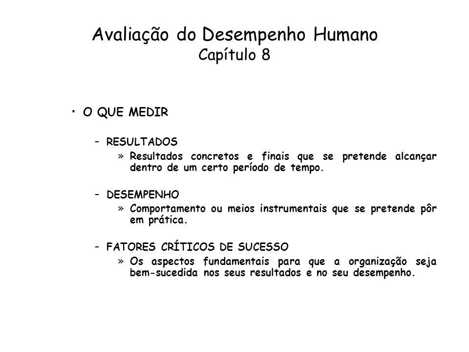Avaliação do Desempenho Humano Capítulo 8