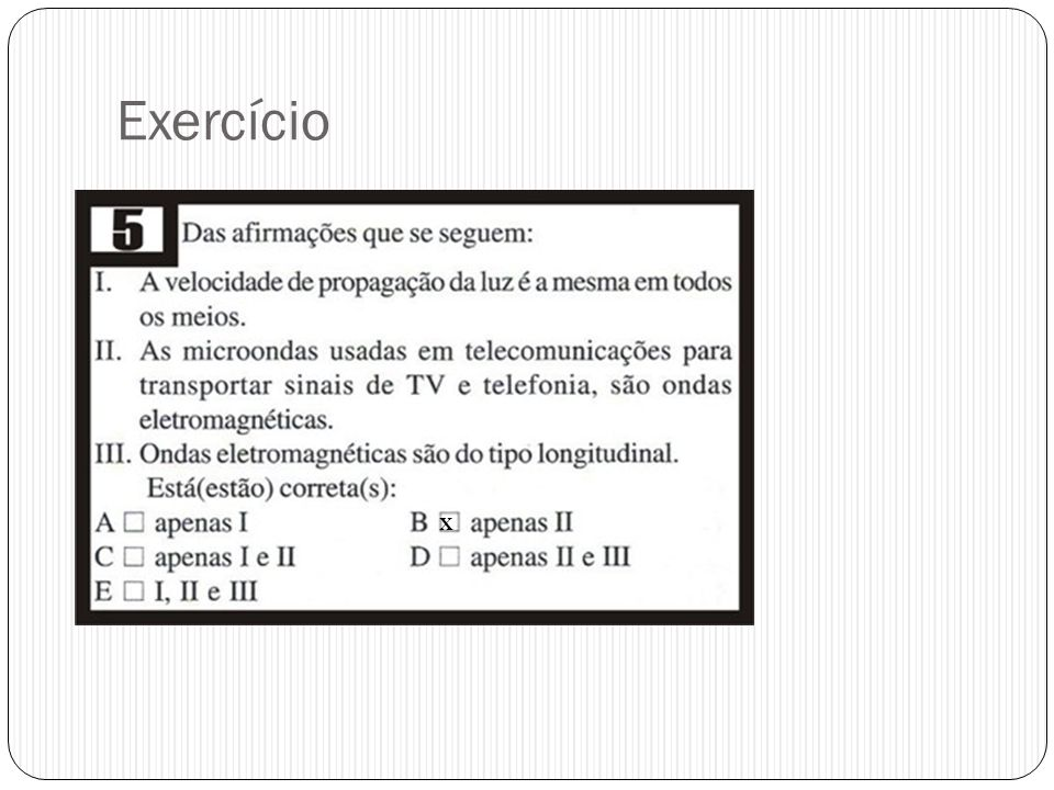 Exercício X