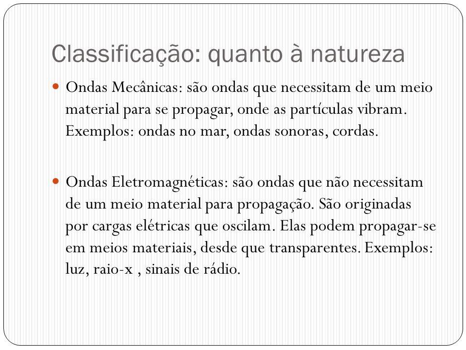 Classificação: quanto à natureza