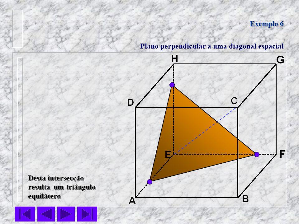 Exemplo 6Plano perpendicular a uma diagonal espacial.
