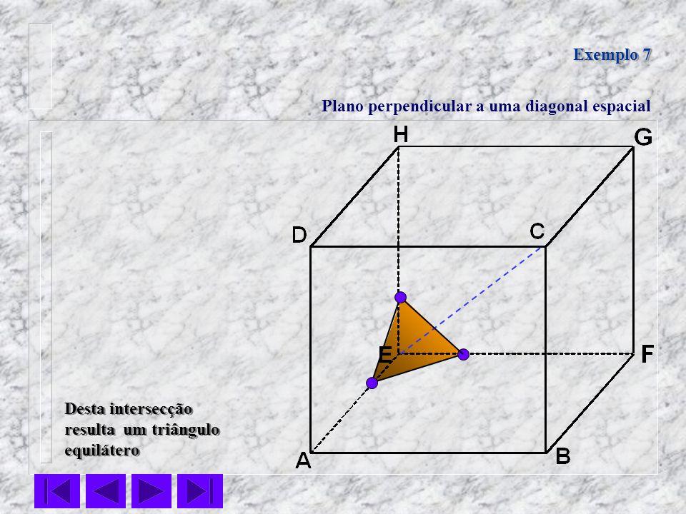 Exemplo 7 Plano perpendicular a uma diagonal espacial.