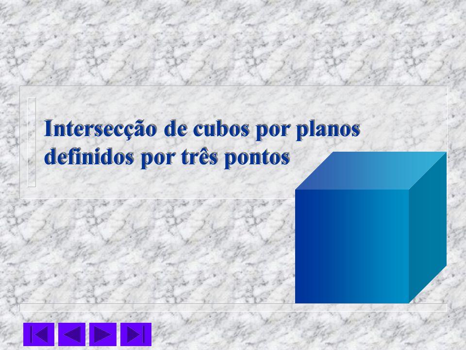 Intersecção de cubos por planos