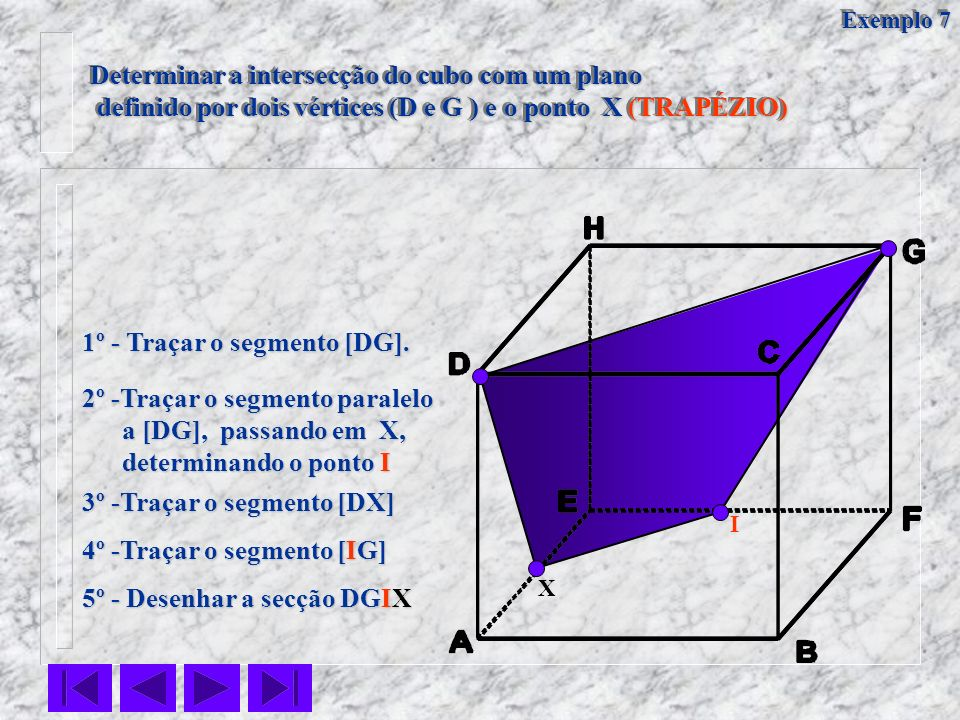 Determinar a intersecção do cubo com um plano